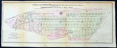 1796 Large Antique Map of New York City by DT Valentine Published in 1861