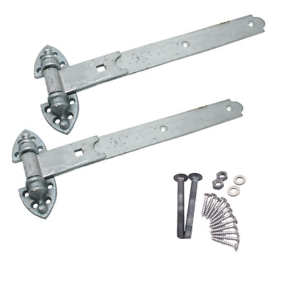 Heavy Duty Gate & Garage Hinges Heavy Reversible Door inc fixings GALVANISED