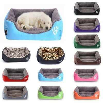 Pet Dog Cat Bed Puppy Cushion Soft Warm House Kennel Kitten Mat Blanket Washable