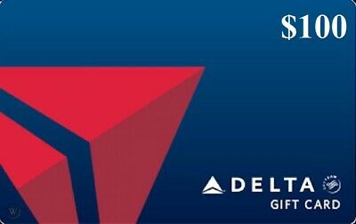 Delta Airlines $100 gift card Fast Shipping