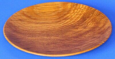 Turned Carved Treen Wooden plate by Bert Marsh (signed) 15cm *[17081]