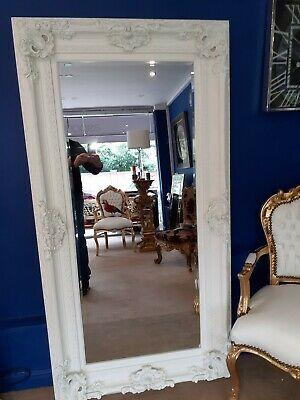 White  French Regency Style Mirror Large 5 feet  11 inches
