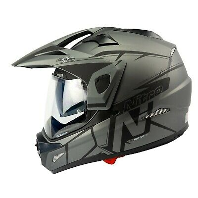 Adventure Helmet Satin Black Gun Medium Tiger