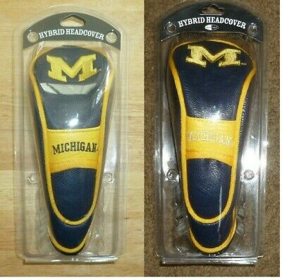 NCAA Michigan Wolverines Hybrid Golf Headcover Stretch Fit & secures on shaft