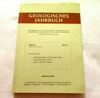 Geological Yearbook Germany 1974 Soil Research German maps book Friedrich Bender