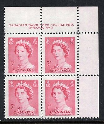 Canada #327 MNH UR Plate Block, Plate 2  - Karst Issue