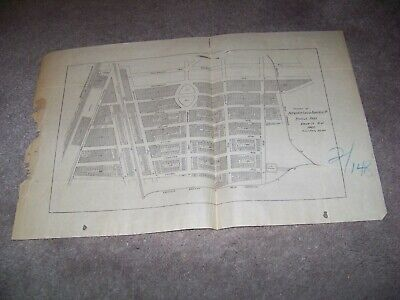 1901 Map Property Interstate Land & Industrial Co Roselle Park Union County NJ