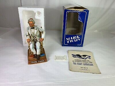 Vintage McCormick Whiskey Mark Twain Decanter Bottle Limited Edition Empty