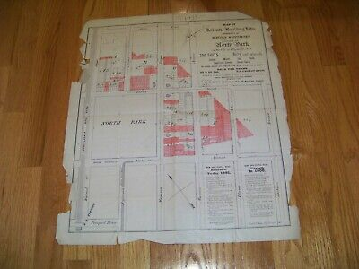 1891 Map Property of Watson Whittlesey North Park Elizabeth New Jersey Moffitt