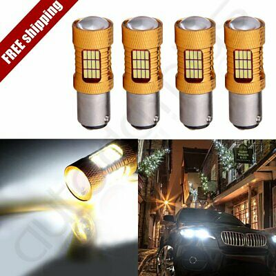 4x White 1157 Cree LED 54 SMD Tail HID Light 30W 3000LM 12V 6000K Projector