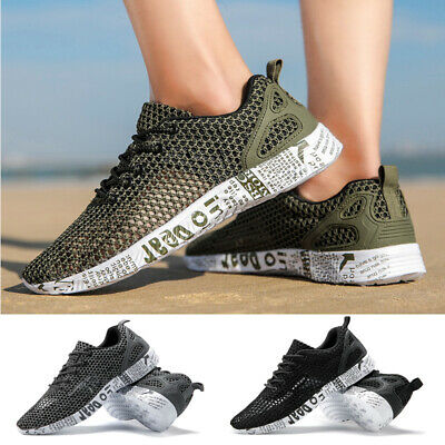 Mens Sports Trainers Mesh Athletic Running Sneakers Gym Breathable Casual Shoes