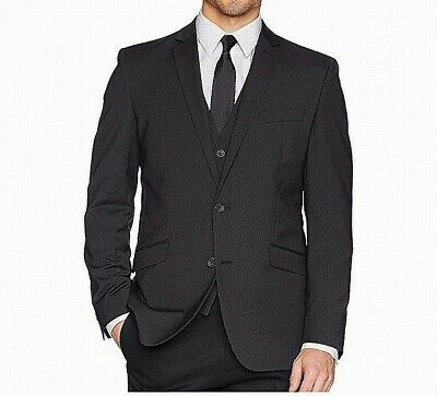 Kenneth Cole REACTION Mens Blazer Blue Size 46 Long Stretch Two Button $99 734
