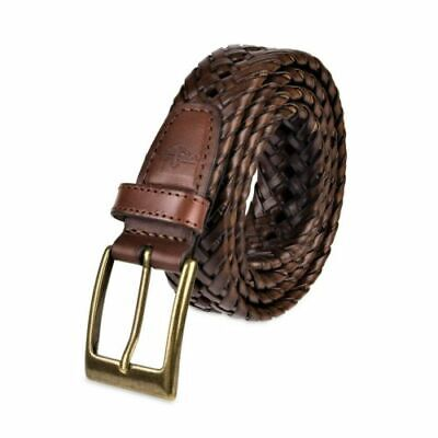 Dockers Mens 1 3/16 Inches Faux Leather Braided Belt size 42