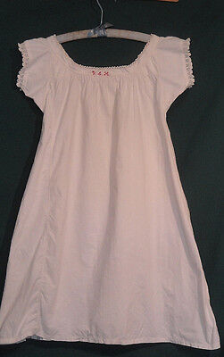 Vintage White Young Girl's Embroidered Initial Nightgown B34