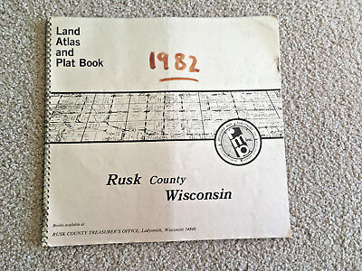 Land ATLAS & PLAT BOOK RUSK COUNTY index to OWNERS  WISCONSIN 1982 MAPS towns