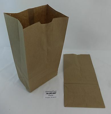 Qty 100 #12 Paper Brown Kraft Natural Grocery Shopping Merchandise Retail Bags