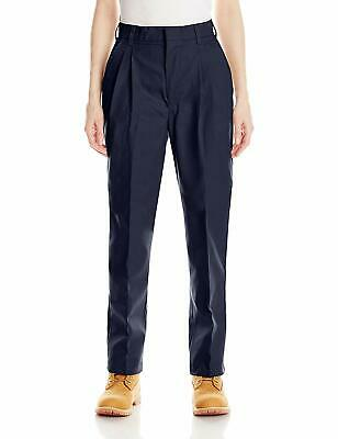 Red Kap Womens Pants Dark Navy Blue Size 22 Plus Work Pleated Front $45 914