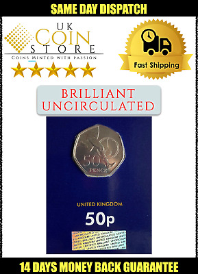 BU 50 Fifty Pence Coin 50p - Roger Bannister 2019 CERTIFIED NEW SEALED BUNC D