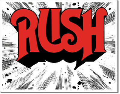 The Band Rush 1974 Album Cover Tin Metal Sign 16 x 13in