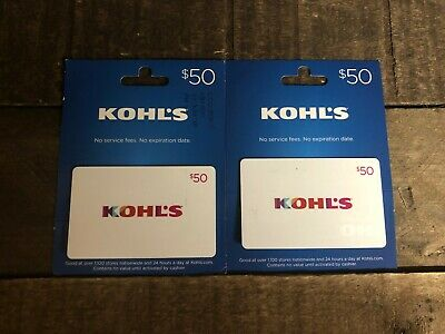 Kohl's Gift Cards w/ $100 Value ACTIVATED Physical Card Will be Shipped
