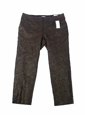 Charter Club Womens Pants Black Gold Size 20W Plus Pull-On Stretch $79 187