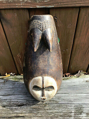 Beautiful Antique African Hand Carved Mask /Fertitly Sculpt- Ivory Coast Africa