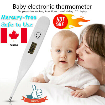 Medical Oral Digital LCD Thermometer Baby Adult Body Safe Ear Temperature Lot CA