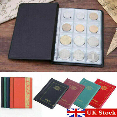 120 Coins Collection Holders Storage Album Book Folder Money Penny Pocket Wallet