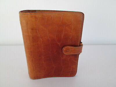 "VINTAGE MULBERRY CROC / CONGO ORGANISER TAN BROWN 5.25"" x 7"""