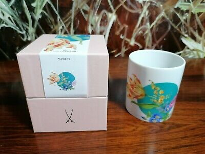 Meissen, Classy Coffee Mug 0,25 Litre Bouquet with dot - New
