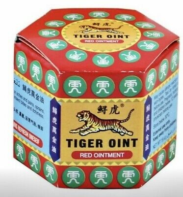 TIGER Red/white Balm Thai Herb Massage Ointment Relief Muscle Ache Pain 2020