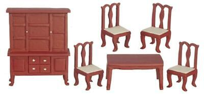 Maison de poupées Noyer Bedroom Furniture Set 1:24 demi-pouce Scale Miniature Suite