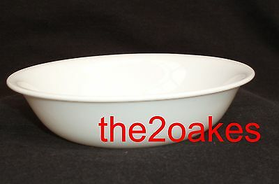 """5 Corelle WINTER FROST WHITE Cereal Soup Bowls 6-¼"""""""