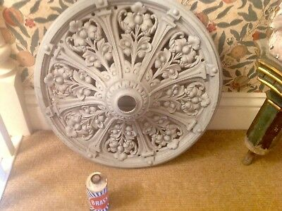 An Original Decorative Victorian Cast Iron Ceiling Rose