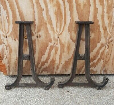 lathe cast iron legs, vintage table, industrial metal stand. 71cm high