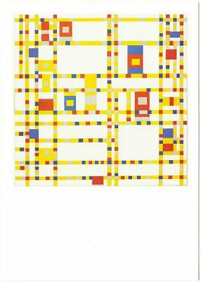 "1970 Vintage MONDRIAN /""BROADWAY BOOGIE WOOGIE/"" MODERN COLOR offset Lithograph"