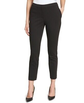 Tommy Hilfiger Women's Black Size 12 Slim Leg Ankle Dress Pants Stretch $79 #240