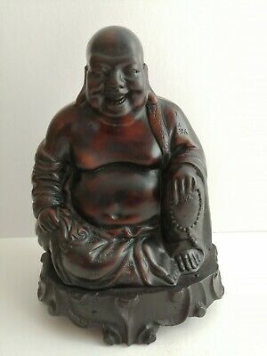 Old Chinese Porcelain Ceramic Resin Happy Laughing Buddha Not Famille Rose