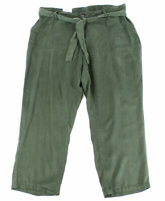 Style & Co. Womens Pants Olive Sprig Green Size 14W Plus High-Rise $59 077