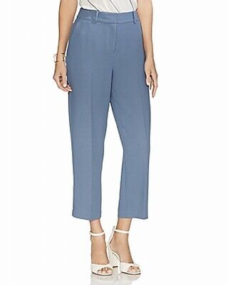 Vince Camuto Women's Blue Size 8 Straight Leg Capris Cropped Pants $99 #587