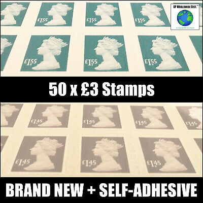 £3 in Value x50 sets Postage Stamps GREATLY DISCOUNTED Face Value UK Stamp BUY