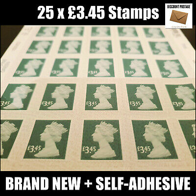 £2.25 x50 Postage Stamps HUGELY DISCOUNTED Face Value GB Stamp Sheet GREAT BUY