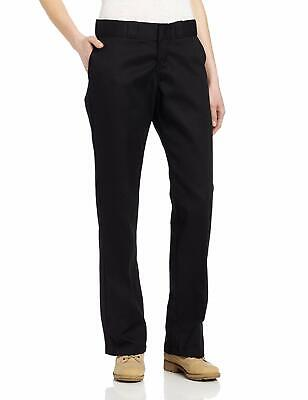 Dickies 774 Womens Black Size 10P Petite Traditional Fit Pants Stretch $44- #304