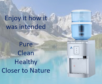 Filtered Water Dispenser Chilled Water Hot Cold Water Cooler Bench Top Dispenser