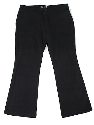 Riders By Lee Womens Pants Black Size 14P Petite Bootcut Stretch $42- 182