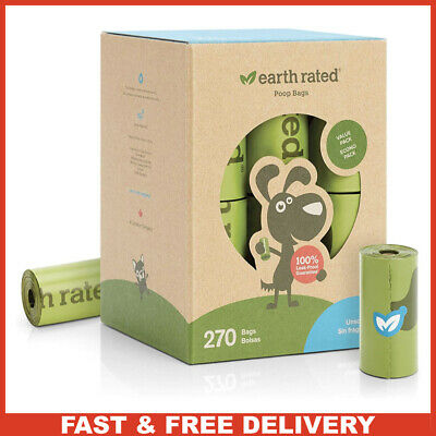 Earth Rated Dog Poop Bags 270 Biodegradable Poop Bag Dogs Leak proof Unscented