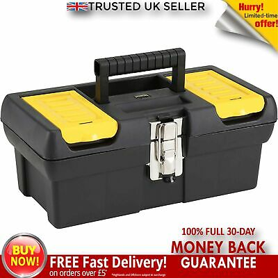 "19/"" Tool Box With Handle Tray DIY Storage Plastic Toolbox Organiser NEW Amtech"