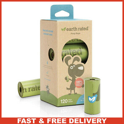 Earth Rated Dog Poop Bags 120 Strong Biodegradable Poop Bag Leak proof Unscented