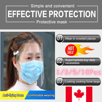 Full Face Shield Mask Clear Flip Up Visor Oil Fume Safety Protection Work Guard