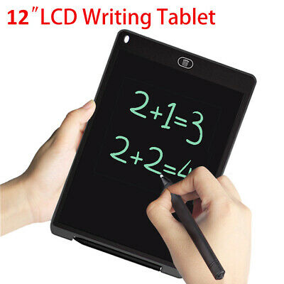 """12"""" Electronic Digital LCD Writing Pad Tablet Drawing Graphics Board Notepad"""